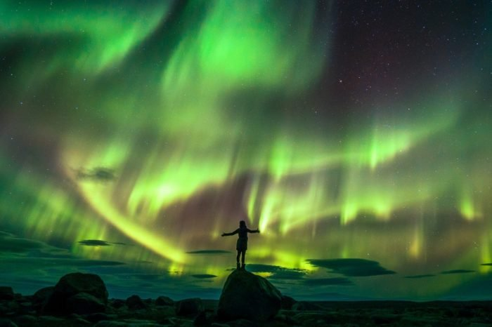Northern lights at world's end